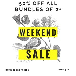 BUNDLE SALE! 50% OFF BUNDLES OF 2 OR MORE!!